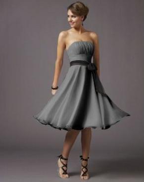 vestido gris 15 Vestuario para ir aun Cocktail