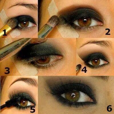 como hacer maquillaje de ojos ahumados