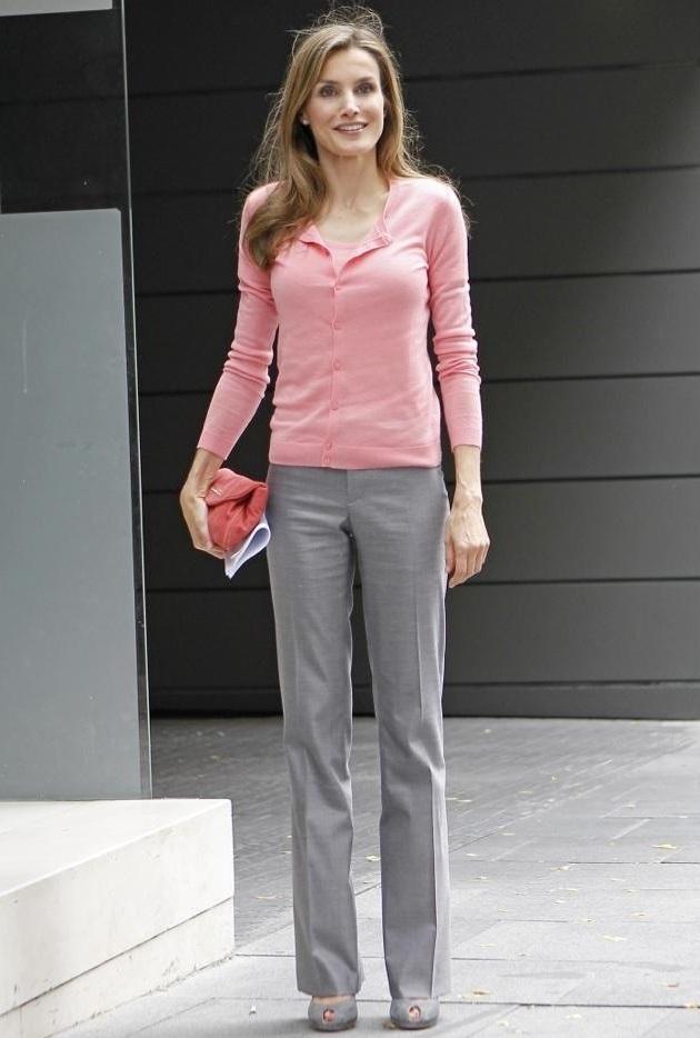 Gris Pantalon Vestir Outfit De Mujer UVzMpS