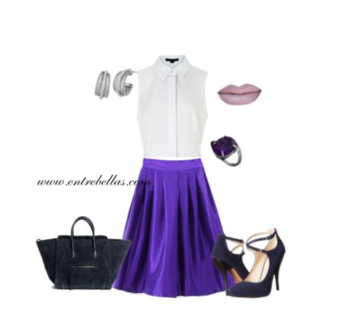 Como combinar ropa de color violeta entre bellas - Que color combina con el morado ...