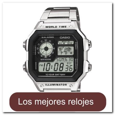 Reloj digital plateado con brazalete de acero inoxidable