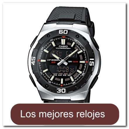 Reloj analógico/digital color negro