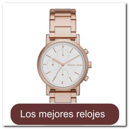 Cronografo para dama en oro rosado con brazalete de acero fb8a396c8003