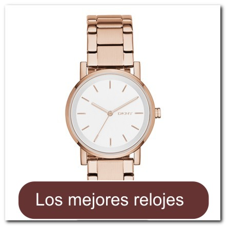 7819d9fe637c Reloj básico para dama en dorado rosa con brazalete de eslabones