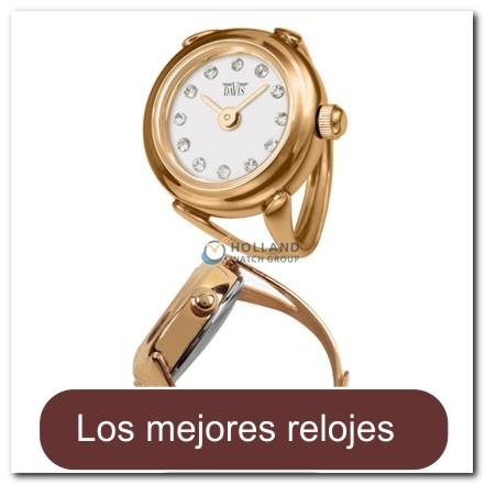 d748574e911e Reloj anillo en oro rosado con cristales