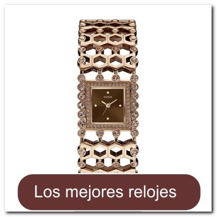 Reloj de pulsera dorado rosa con cristales