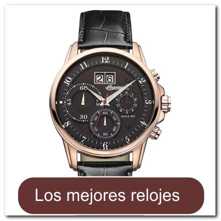Cronografo de cuarzo dorado rosa con fecha grande