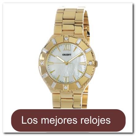 Reloj para dama dorado decorado con cristales