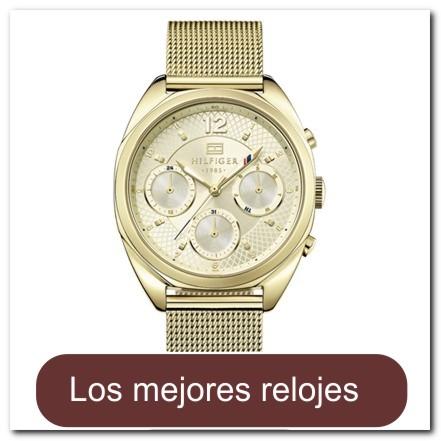 Reloj para dama dorado con día/calendario