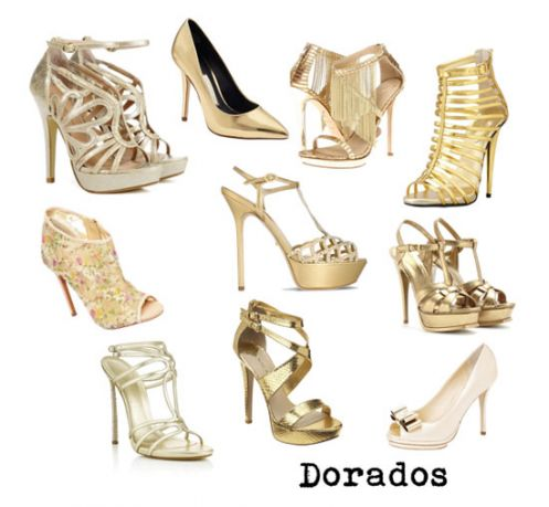 calzado dorado