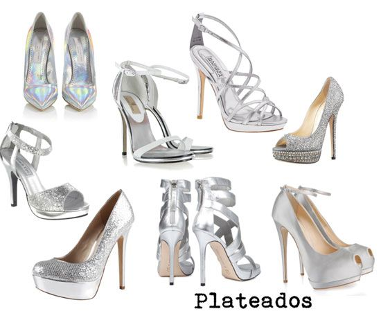 calzado plata