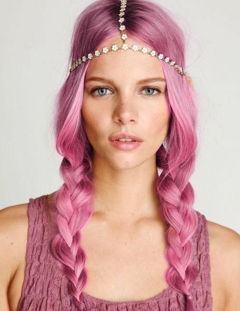 tinte de cabello rosa