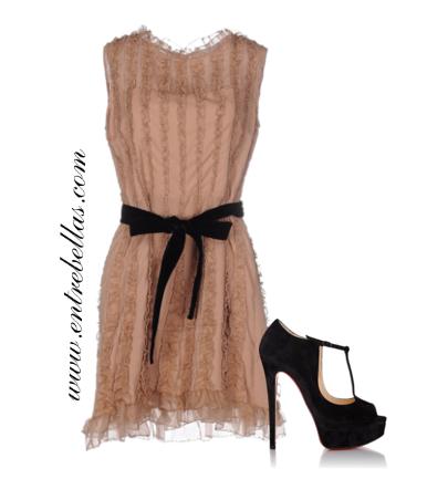 Con q zapatos combinar un vestido negro