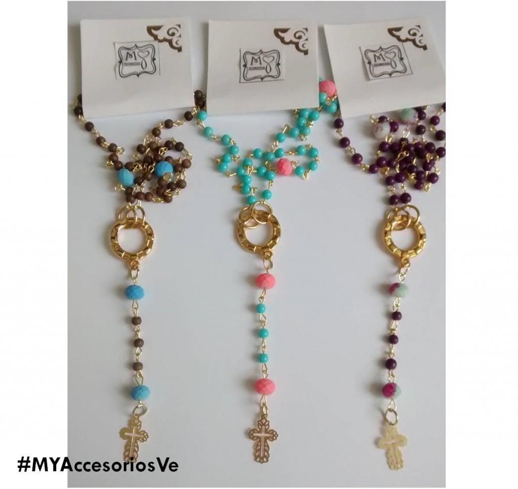 Collar estilo rosario