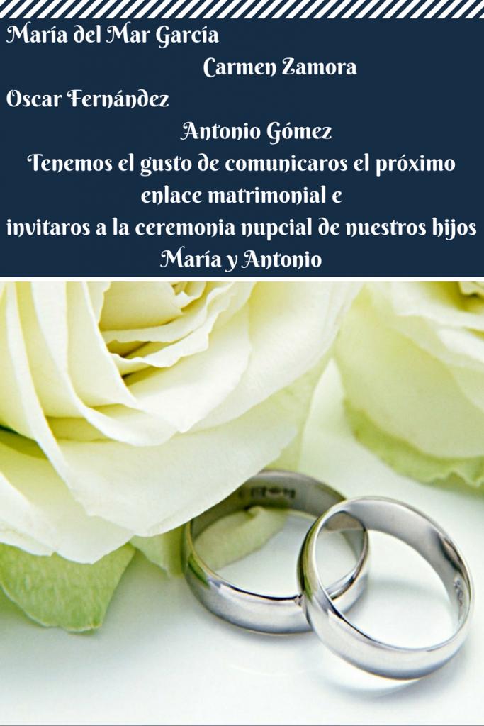 Textos para invitaciones de boda