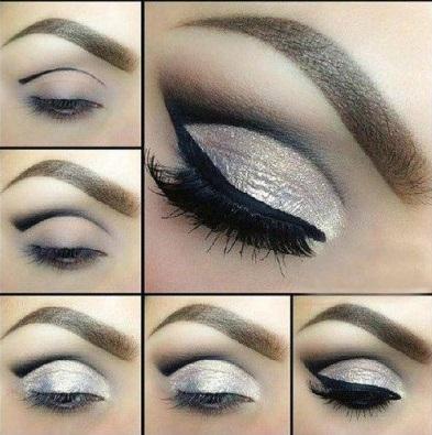Maquillando los ojos