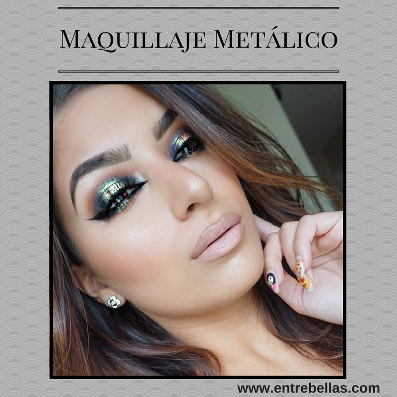 Maquillaje metálico