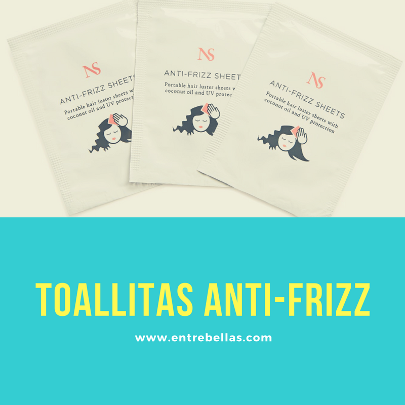 Toallitas anti-frizz para el cabello y luce un look espectacular.