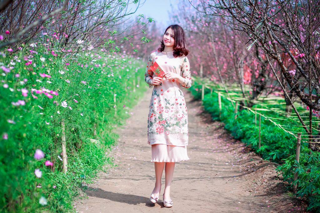 Vestidos de novia con estampados florales.