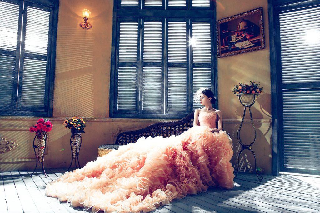 Lindos vestidos de novia coloridos.