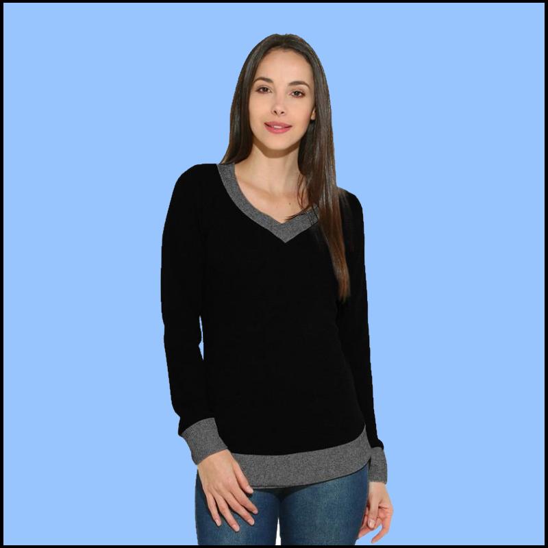 Suéter de cuello en V